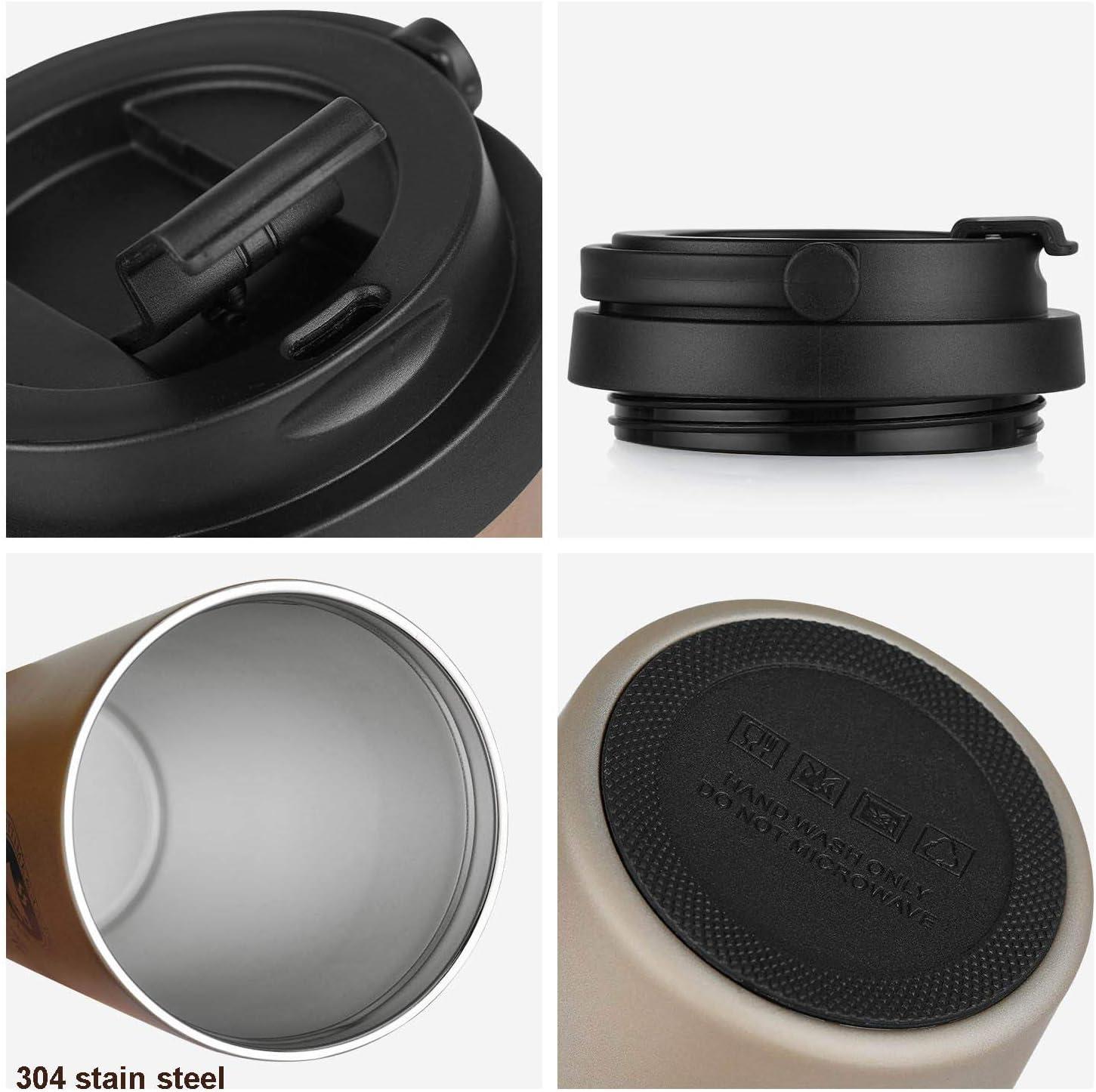 SLOSH Vaso Termico Caf/é Termo Taza Termica Viaje Botella Acero Inoxidable 500ml