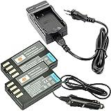 DSTE 2-pacco Ricambio Batteria + DC112E Caricabatteria per Pentax D-Li109 K-R K-30 K-50 K-500 K-2 K-S2 K-S1