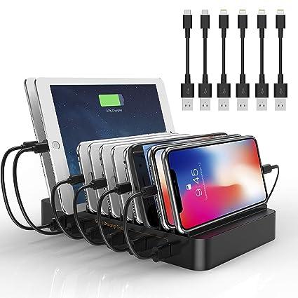 Amazon.com: Estación de carga de 6 puertos USB - Estación de ...