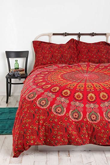 kitchen king printed home size red amazon bed duvet cover dp uk set co