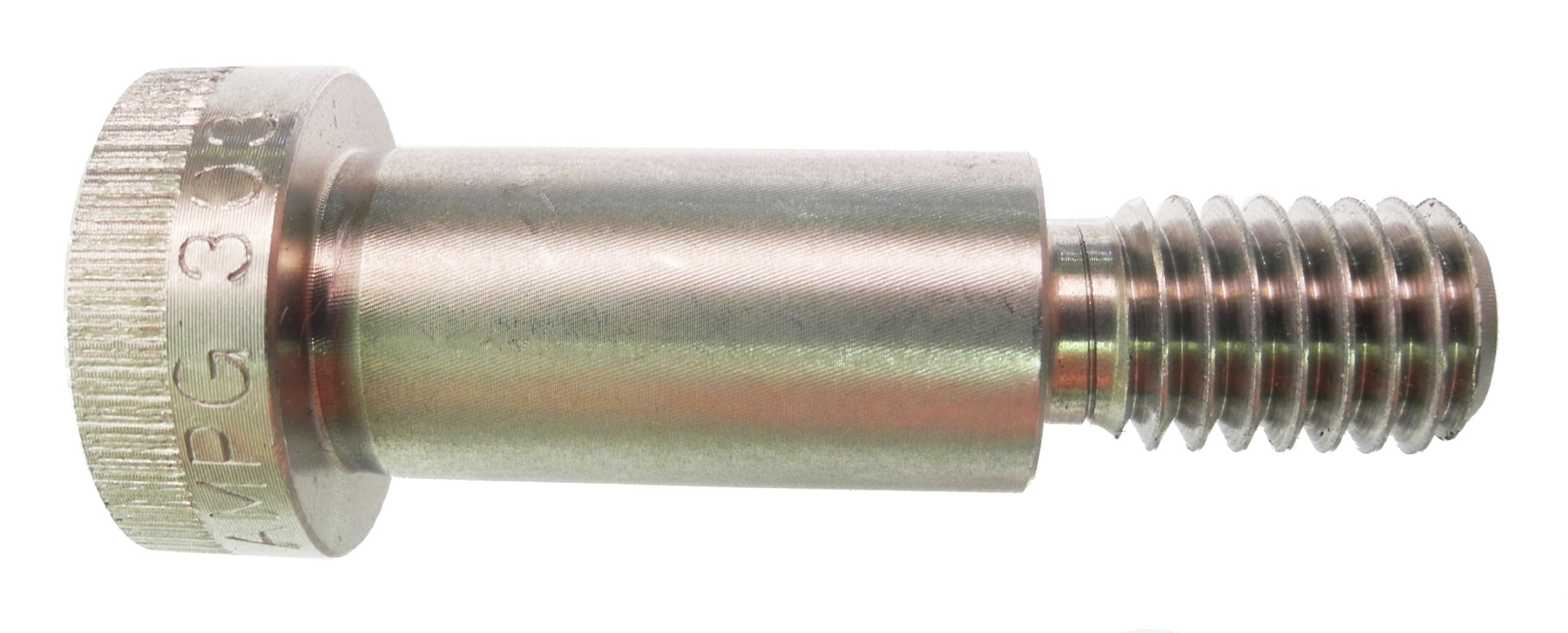 18-8 Stainless Steel Shoulder Screw, Plain Finish, Socket Head Cap, Hex Socket Drive, Standard Tolerance, Meets ASME B18.3, 5/16'' Shoulder Diameter, 3/4'' Shoulder Length, Partially Threaded, 1/4''-20 Threads, 7/16'' Thread Length, Made in US, (Pack of 1)