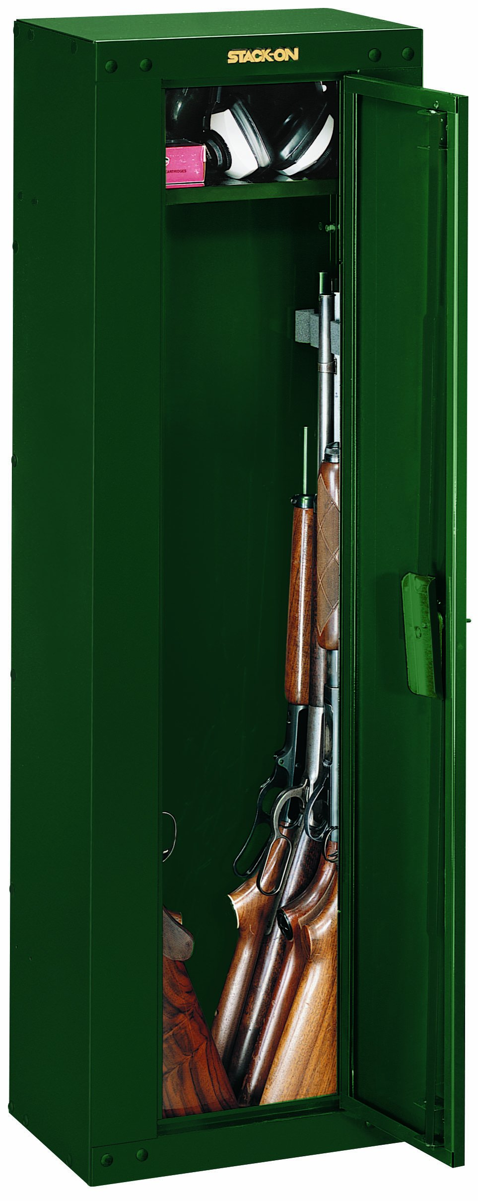 Stack-On GCG-8RTA Steel 8-Gun Ready to Assemble Security Cabinet, Hunter Green