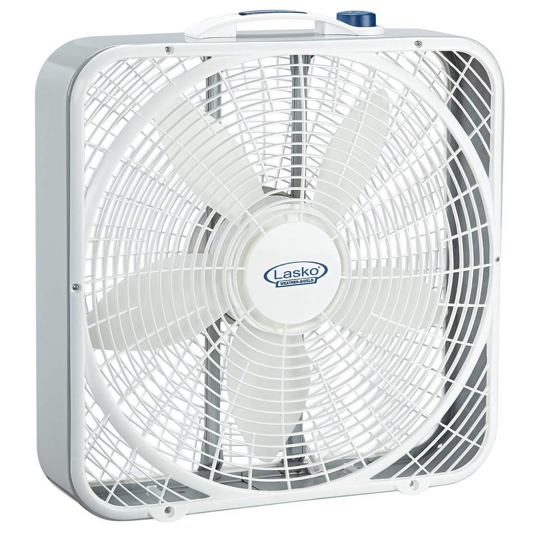 Lasko 3720 20″ Weather-Shield Performance Box Fan - Features Innovative Wind Ring System for Up to 30% More Air