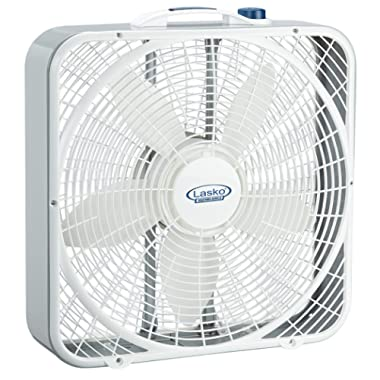 Lasko 3720 20″ Weather-Shield Performance Box Fan-Features Innovative Wind Ring System for Up to 30% More Air