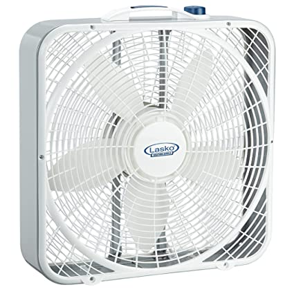 amazon com lasko 3720 20 weather shield performance box fan home rh amazon com Lakewood Box Fan Comfort Zone Box Fan