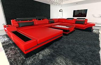 Sofa Dreams XXL Conjunto de Muebles para Salón Mezzo Rojo ...