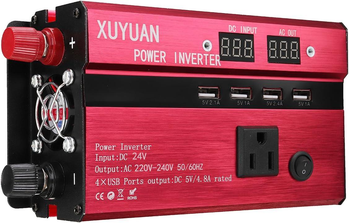 Tutoy 3000W 12V/24V DC A 110V/220V AC Inversor De Energía Solar Led Convertidor De Onda Sinusoidal Modificada - #4