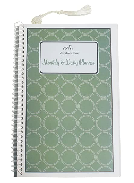 amazon com ashdown row monthly and daily planner 5 5 x 8 5