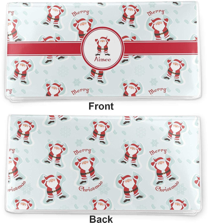 Personalized Santa Claus Vinyl Checkbook Cover