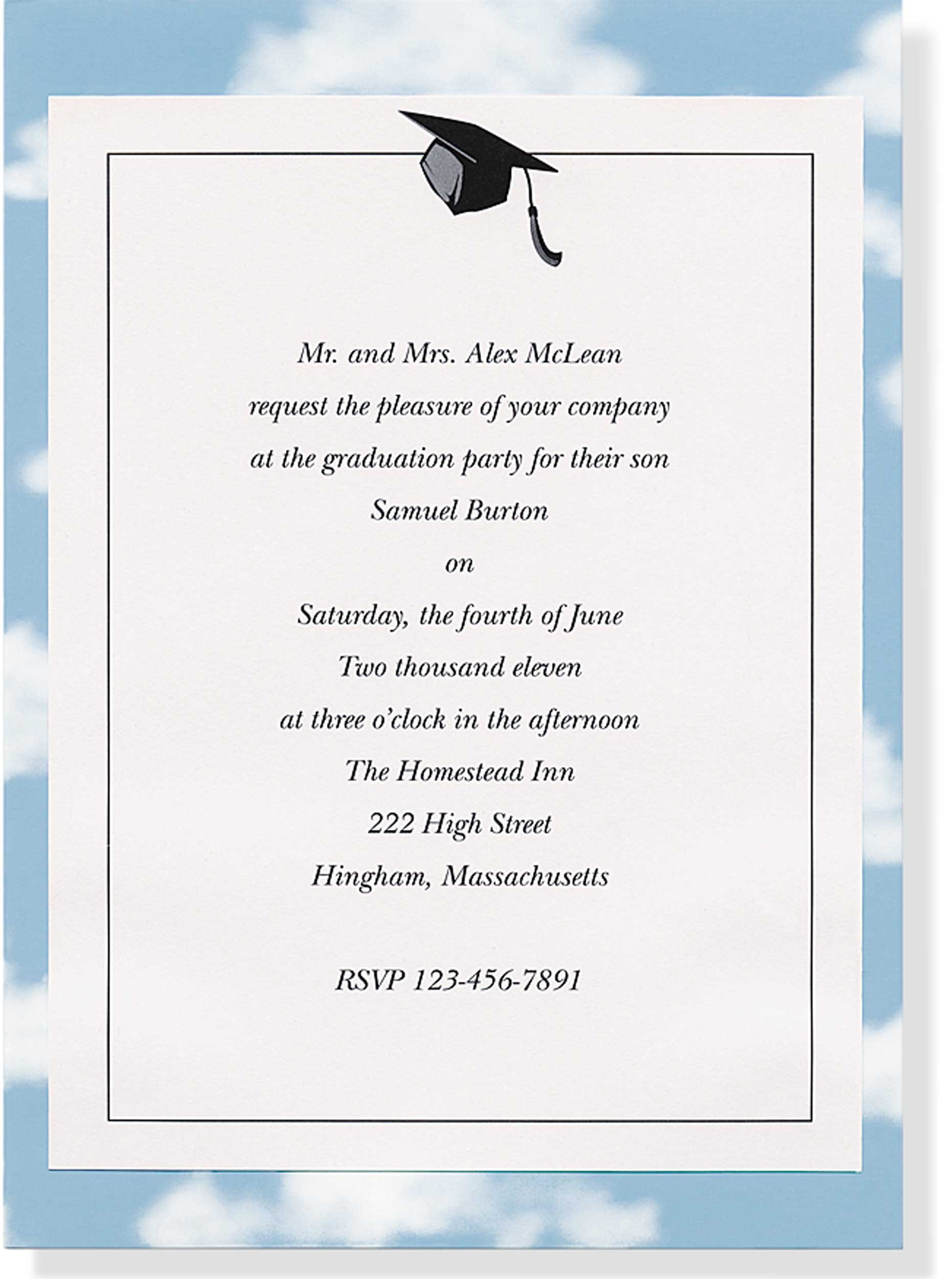 Graduation Invitation Kit Stationery Imprintable Invite Kit – 8th Grade Graduation Invitations