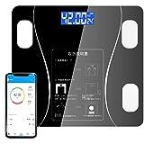 体重・体組成計 ヘルスメーター Bluetooth 体脂肪計 スマホ連動 12項目測定 専用日本語APP 体重/体脂肪率/BMI/BMR/体内水分/骨量/筋肉 スマホ対応 薄型 体重計 電源自動ON/OFF iOS/Androidアプリで健康管理・肥満予防・体重管理
