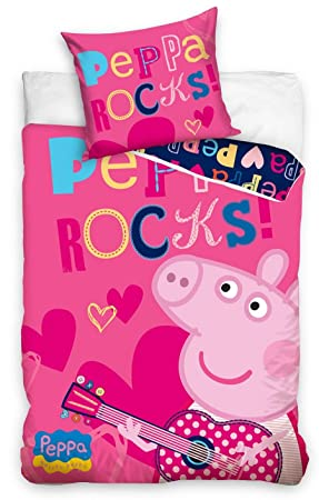Peppa Pig Wutz Bettwäsche Kinder Bettwäsche 140x200 Cm Pink Amazon