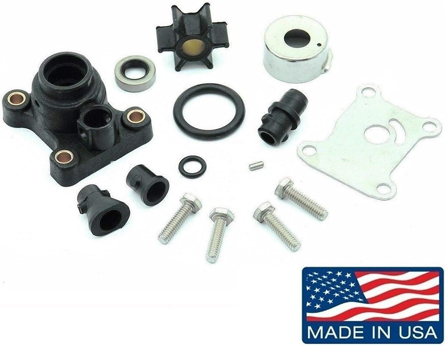EMP Water Pump Kit for Johnson Evinrude 9.9, 15 Hp 2 Stroke (1974-1996) & 9.9, 15 Hp 4 Stroke (1995-2001) Replaces 18-3327 394711 (Made in USA) Read Item Description for Applications