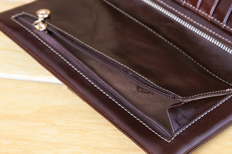 Herbal Heaven WomenLong Large Capacity Korean Retro Leather Wallet