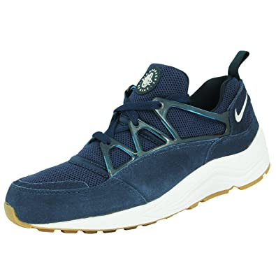 Nike AIR HUARACHE LIGHT Blue Suede Leather Men Sneakers Shoes