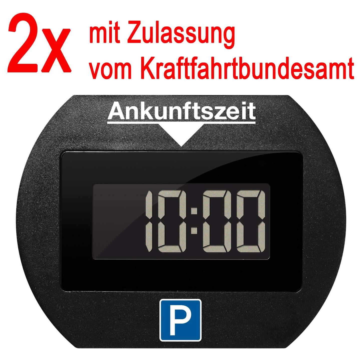2x Park Lite elektronische Parkscheibe digitale Parkuhr schwarz mit offizieller Zulassung vom KBA Needit