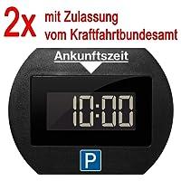 2x Park Lite elektronische Parkscheibe digitale Parkuhr schwarz mit offizieller Zulassung vom KBA