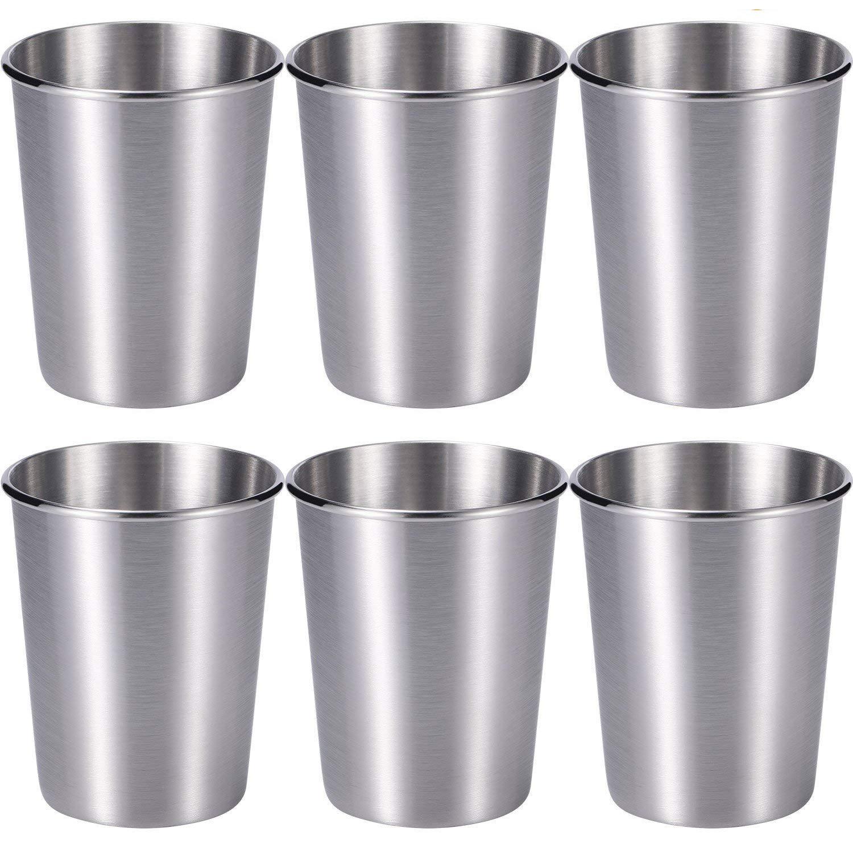 Amazon.com: skylety paquete de 6 7 oz tazas de acero ...