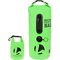 LISH 30L Floating Waterproof Dry Bag - Roll Top Backpack Sack with Bonus 1.5L Pouch, for Camping, Kayaking, Swimming, or Snowboarding