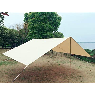 RT Square Front Awning Diameter Canvas Waterproof Glamping Bell Teepe Yurt Stove Tent: Garden & Outdoor
