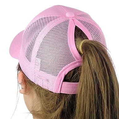 Absolute Gorras béisbol Mujer,Sombrero Snapback Sombrero Ajustable Hip-Hop (Rosa)
