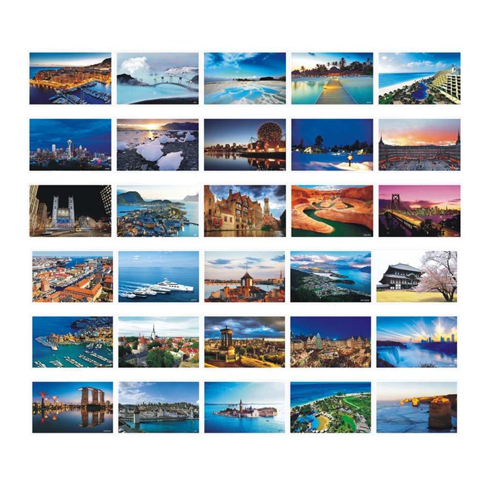 30 Pcs Cartes postales artistiques Cartes postales dimages Photos de voyage Cartes-cadeaux souvenirs Paris romantique