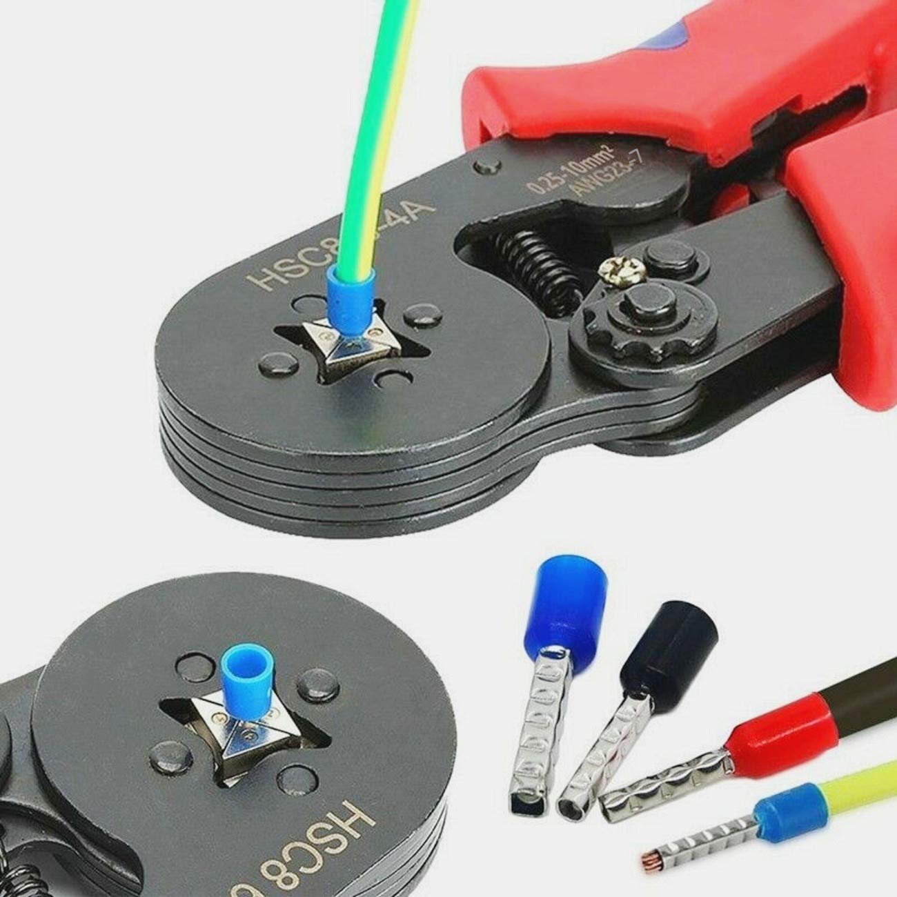 JZK Ensemble 800 virole de bootlace connecteur /à sertir cordon isol/é /épingle embouts terminaux trousse Assortiment de 0.5 mm/² ~ 6 mm/² pour projets /électriques avec bo/îte de rangement