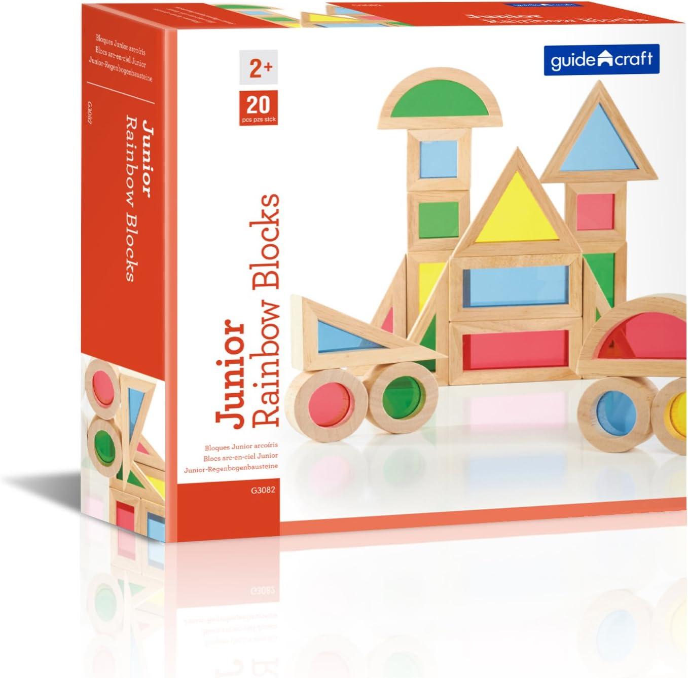 Guidecraft- Construcción Bloques Junior Arco Iris 20 Piezas (4)