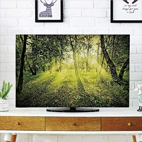 Funda para televisor LCD, multiestilo, mágico, Compatible con la ilustración del árbol sin Hojas, diseño Vibrante, Color Verde y marrón, Compatible con televisores de 50 Pulgadas y 52 Pulgadas: Amazon.es: Electrónica