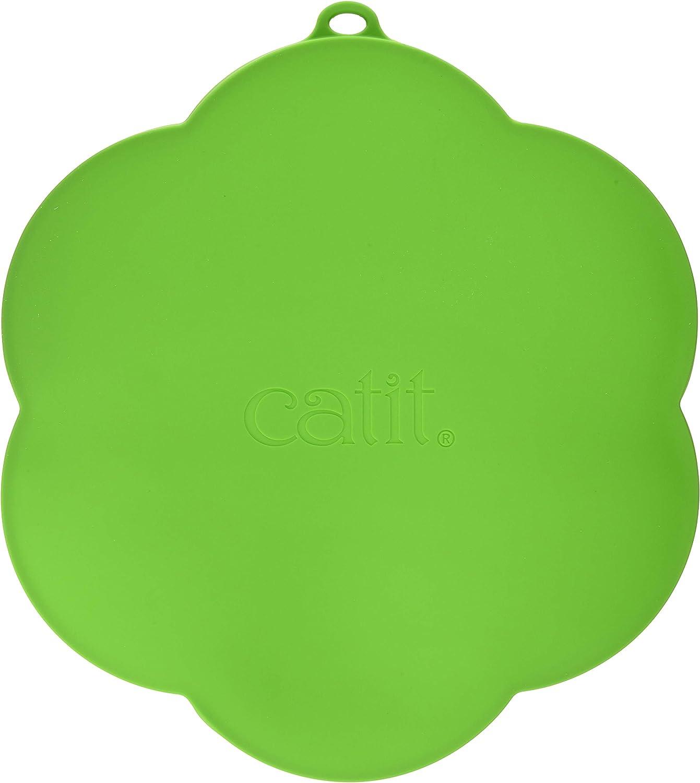 Catit Alfombra de Silicón para Bebedero, Color Verde
