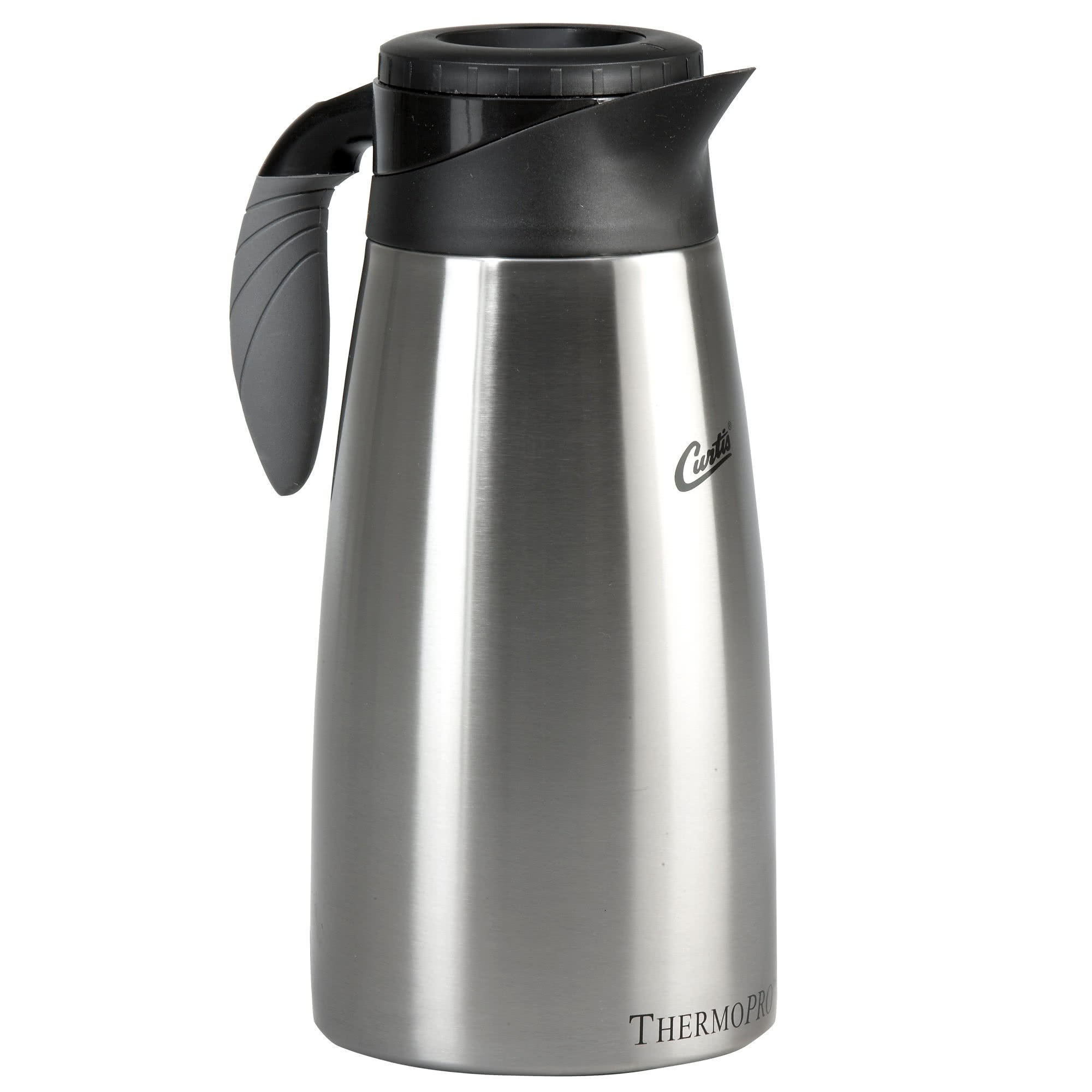 TableTop King TLXP1901S000 1.9 Liter Stainless Steel Coffee Server with Liner and Brew Thru Lid - 6/Case