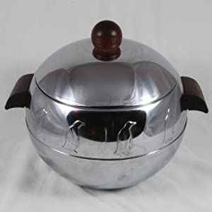 Vintage West Bend Penguin Stainless Steel Hot and Cold Server