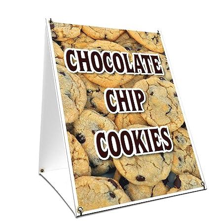 SignMission Cartel de Chocolate Chip Cookies con gráficos en ...