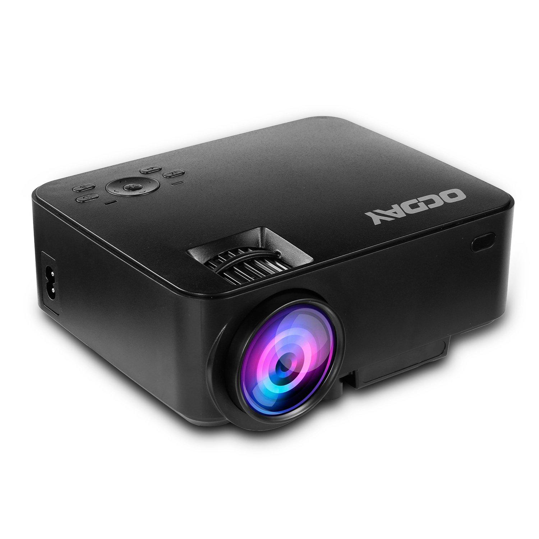 ocday Mini Proyector, beamer vídeo HD LCD proyector 1500 lúmenes ...