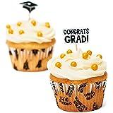 Fun Express Congrats Graduation Cupcake Liners and Picks - 100 Pack