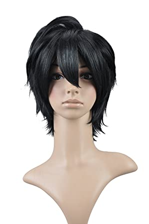 Amazon Com Hh Building Death Note L Lawliet Cosplay Wig Short Curly Costume Party Black Hair Beauty