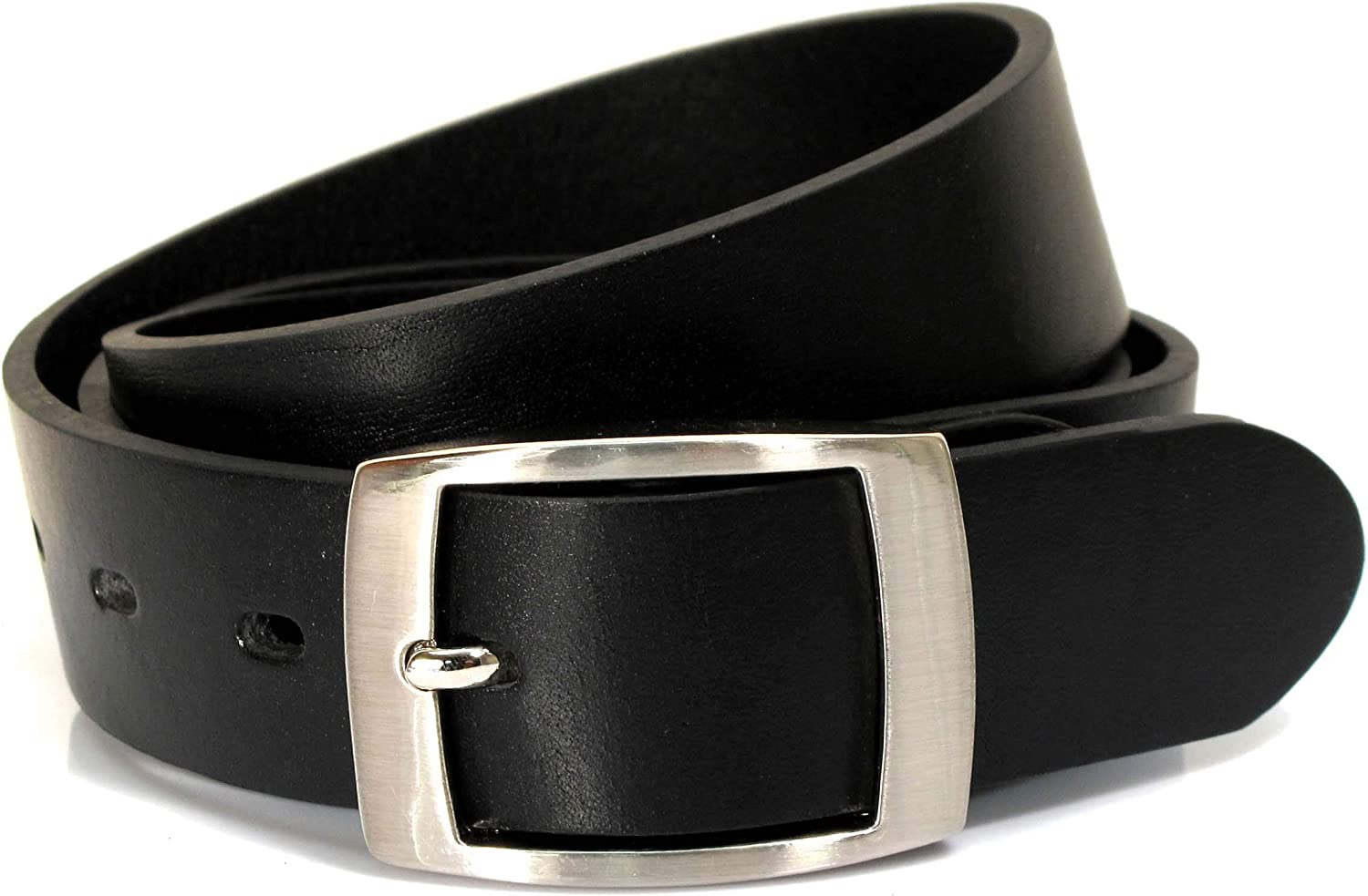 UM1 Mens Real Genuine Leather Black Belt 1.25 Wide S-XL Thick Long Casual Jeans