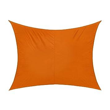 jarolift toldo vela rectangular repelente al agua 300 x 200 cm naranja