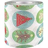 Globalqi Rollo de Navidad Papel de Cocina Papel higiénico patrón de Navidad Artículos de…