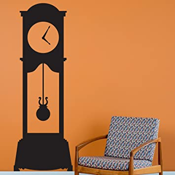 Amazoncom Grandfather Clock Black Wall Decal Custom Vinyl