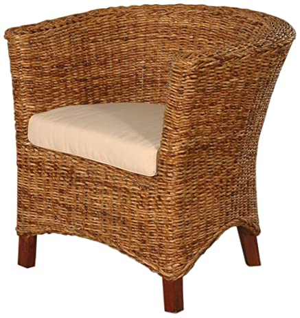 Delightful Jeffan International Abaca Astor U Chair, Small