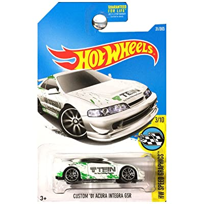 Hot Wheels 2020 HW Speed Graphics Custom '01 Acura Integra 31/365, White: Toys & Games