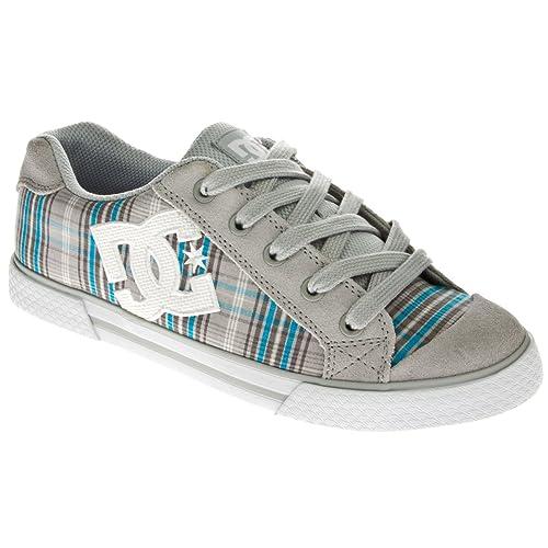 DC Shoes Chelsea Armor - Zapatillas Deportivas (Talla 43), Diseño de Cuadros Escoceses, Color Gris con Logo Blanco: Amazon.es: Zapatos y complementos