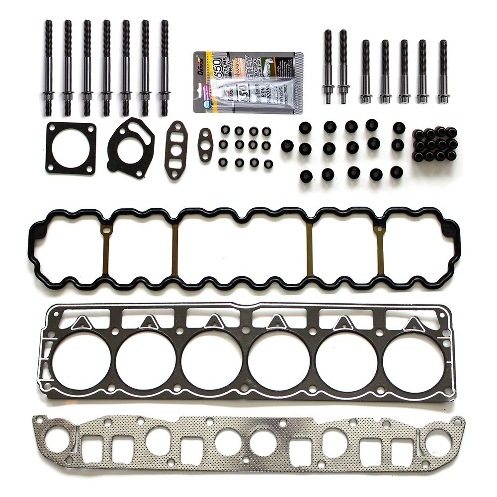 ECCPP Cylinder Head Gasket Set and Head Bolts FOR 1999-2001 Jeep Cherokee 1999-2003 Jeep Grand Cherokee TJ Wrangler 4.0L 242CID OHV 12V VIN S