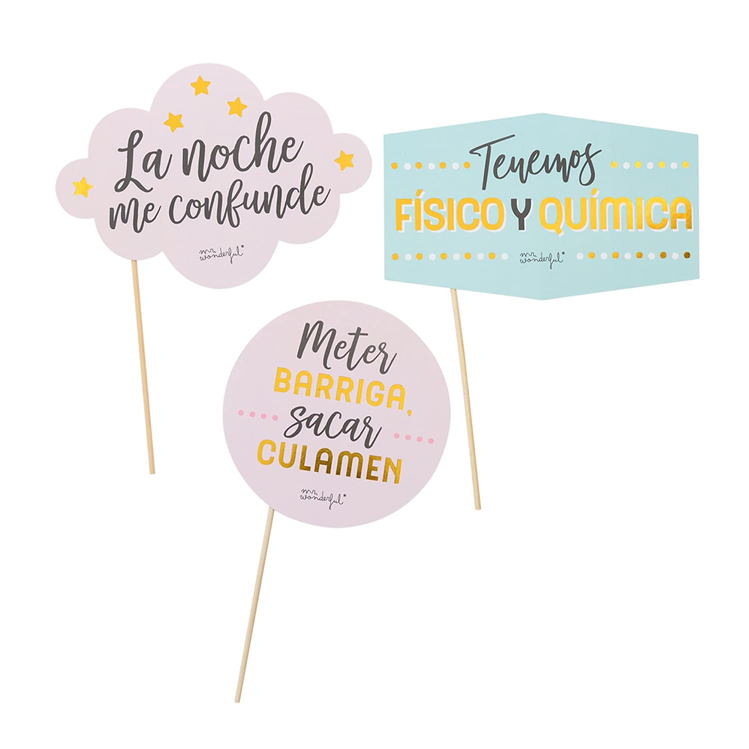 Mr; Wonderful Woa08938Es Accesorios Mr; Wonderful Para Photocall - Mensajes, 20X0.5X31 Cm: Amazon.es: Oficina y papelería