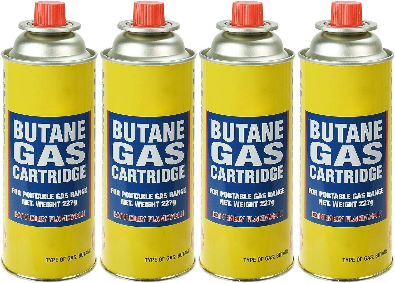 Quemador de gas butano para malas hierbas, musgo y hongos, 4 Canisters