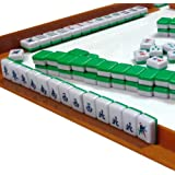 Mini 144 Mahjong Tile Set Travel Board Game Chinese Traditional Mahjong Games, Portable Size and Light-weight by Ziyier G & E