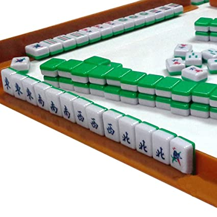 Mini 144 Mahjong Tile Set Travel Board Game Chinese Traditional Mahjong Games Portable Size And Light Weight