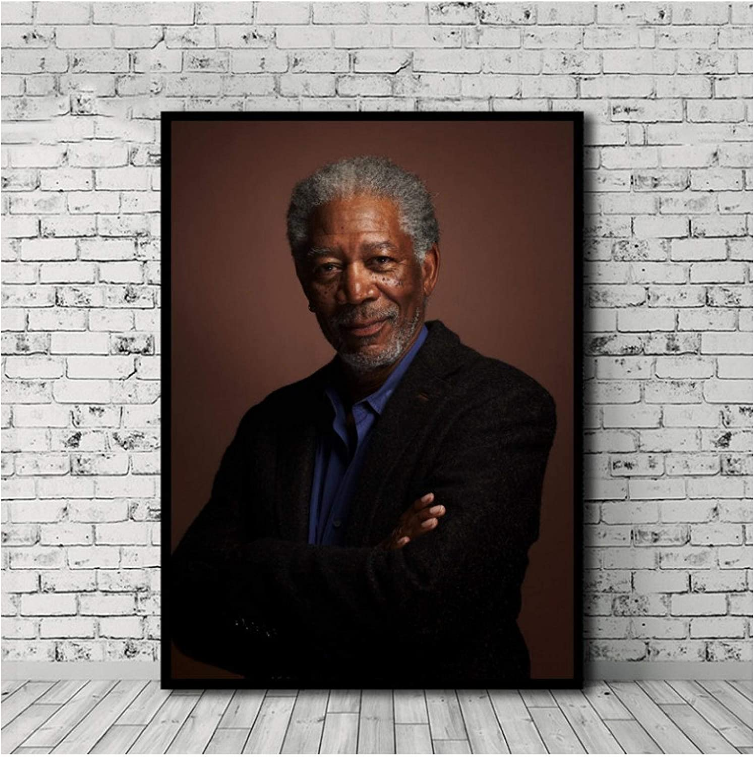 LYWUSUZE Morgan Freeman Star Classic Poster Canvas Painting Print Poster Wall Canvas Living Room Artwork Decoration Gift -60x80cm No Frame