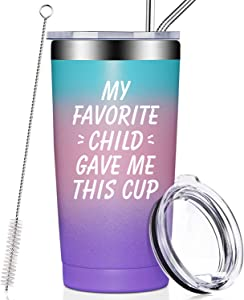 Mom Gifts from Daughter - Mothers Day Gifts for Mom - Fathers Day Gifts for Dad from Son, Kids, Child - Christmas Birthday Gifts Tumbler Cup